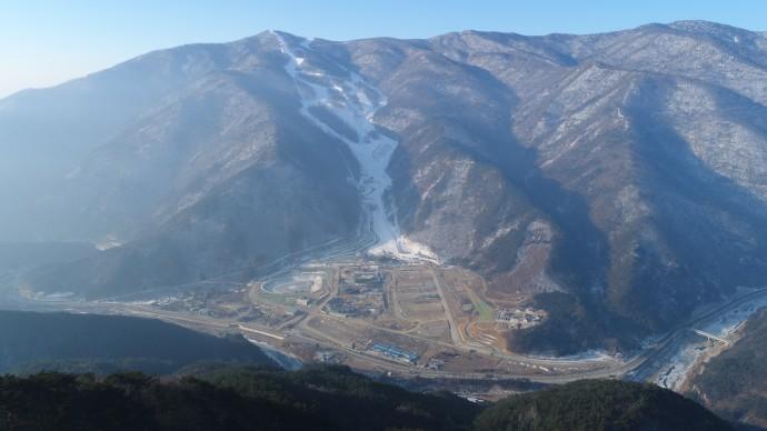 정선 알파인 경기장 전경 - 평창 동계올림픽 공식 홈페이지 제공